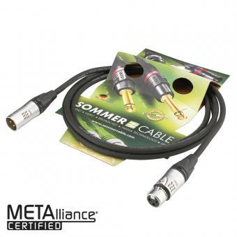 Microphone reference cable EMC-QUAD, 4 x 0,14 mm² | XLR / XLR, Neutrik 6,00m | black