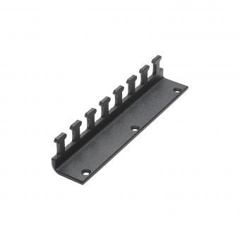 Zugentlastung SYSBOXX-Zugentlastung beidseitig montierbar für SYSBOXX MKII, 3 BE; Tiefe: 19,5 mm für SYS-Gehäuseserien, verzinktes Stahlblech, Farbe: anthrazit, RAL 7016