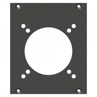 Frontblech CEE3-Loch, 2 HE, 2 BE für SYS-Gehäuseserien, verzinktes Stahlblech, Farbe: anthrazit, RAL 7016