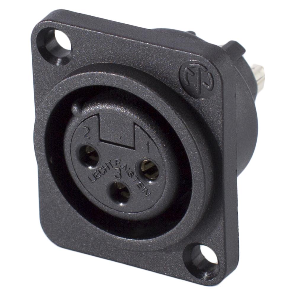 Neutrik NC3FPP XLR 3-pol Kunststoff-,Löttechnik-Einbaubuchse Type D Stecker