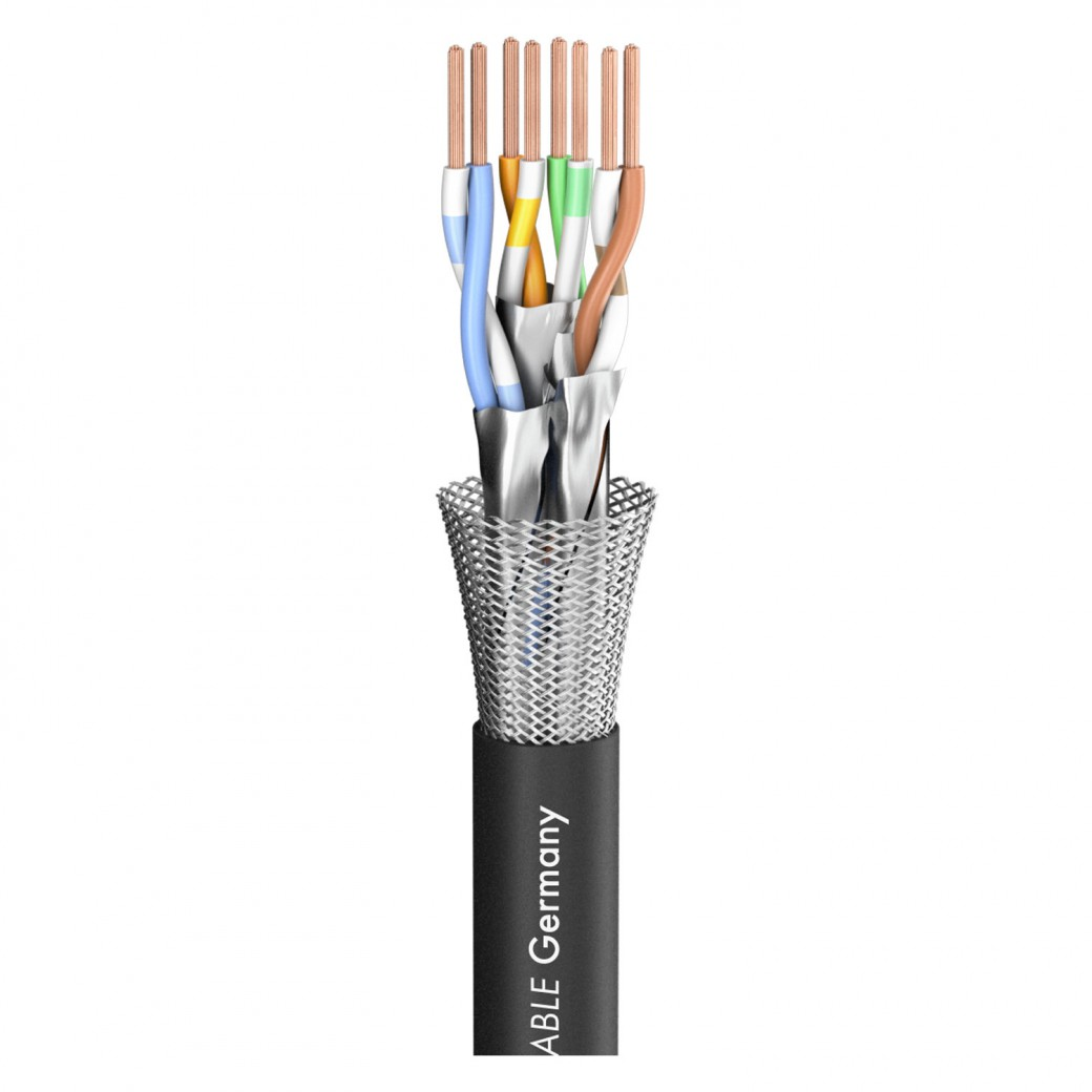 Sommer Cable Shop Sc Mercator Cat7 Pur Xl Black 850 Mm Wire Installer Cat6 Wiring Office Computer