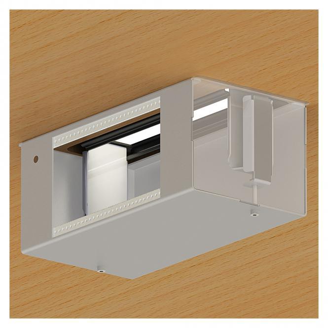 SYSWALL Untertisch-Wanne Untertisch-Wanne für SYSFRAME45-4; Tiefe: 120 mm, Farbe: anthrazit, RAL 7016, Feinstrukturoberfläche