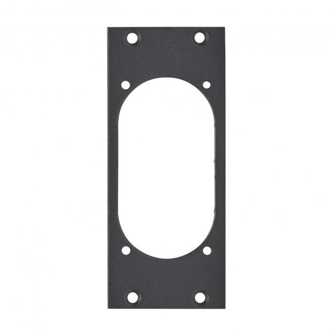 Frontblech 1 x NAC3PX, 2 HE, 1 BE für SYS-Gehäuseserien, 2,5 mm verzinktes Stahlblech, Farbe: anthrazit, RAL 7016