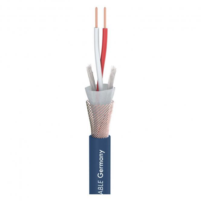 DMX Binary 234 AES/EBU MKII; 2 x 0,34 mm²; PVC Ø 6,20 mm; blau
