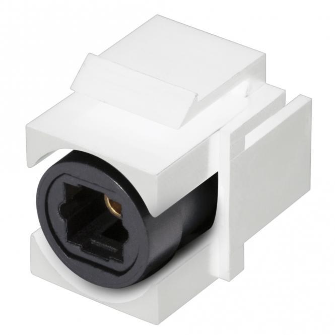 sommer cable shop optical toslink kunststoff patch einbau keystone clip in wei. Black Bedroom Furniture Sets. Home Design Ideas