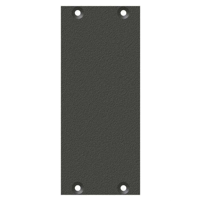 Frontblech Leerblech, 2 HE, 1 BE für SYS-Gehäuseserien, verzinktes Stahlblech, Farbe: anthrazit, RAL 7016