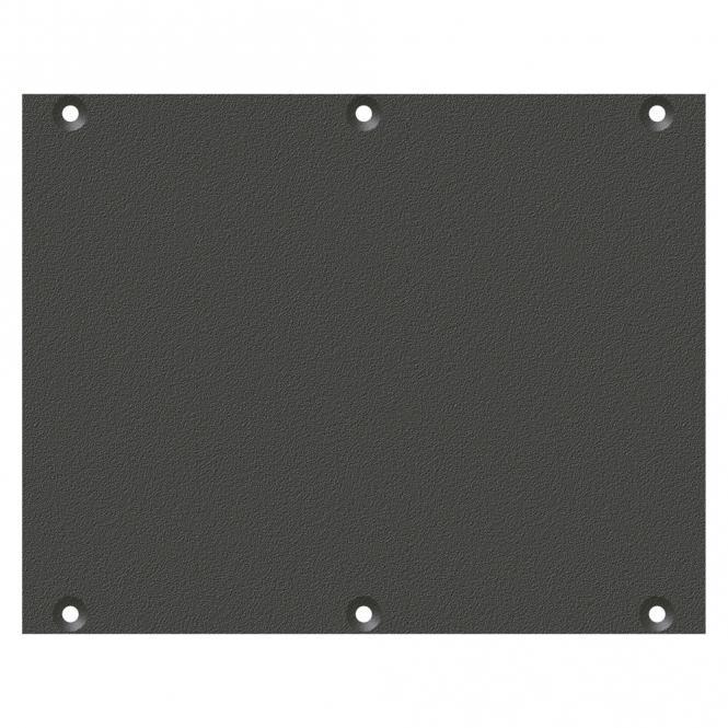Frontblech Leerblech, 2 HE, 3 BE für SYS-Gehäuseserien, verzinktes Stahlblech, Farbe: anthrazit, RAL 7016