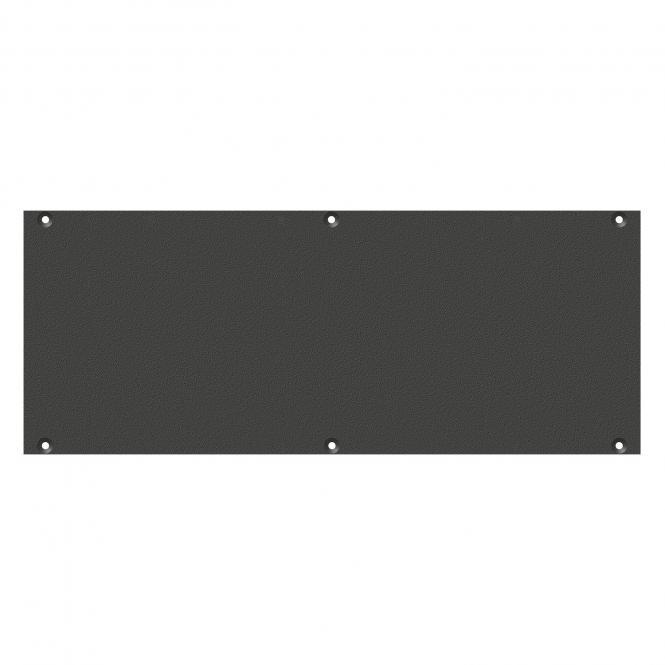 Frontblech Leerblech, 2 HE, 6 BE für SYS-Gehäuseserien, Farbe: anthrazit, RAL 7016