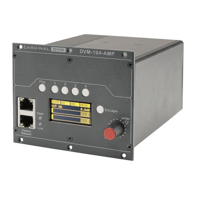 """CARDINAL DVM ¼ -19"""" amplifier module, Conference, 2 HE, W x H x D: 106,5 mm x 84 mm x 132 mm"""
