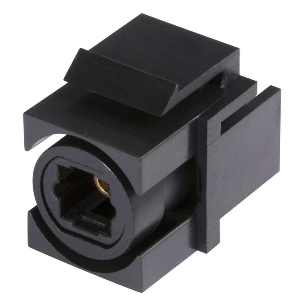sommer cable shop optical toslink kunststoff patch einbau keystone clip in schwarz. Black Bedroom Furniture Sets. Home Design Ideas
