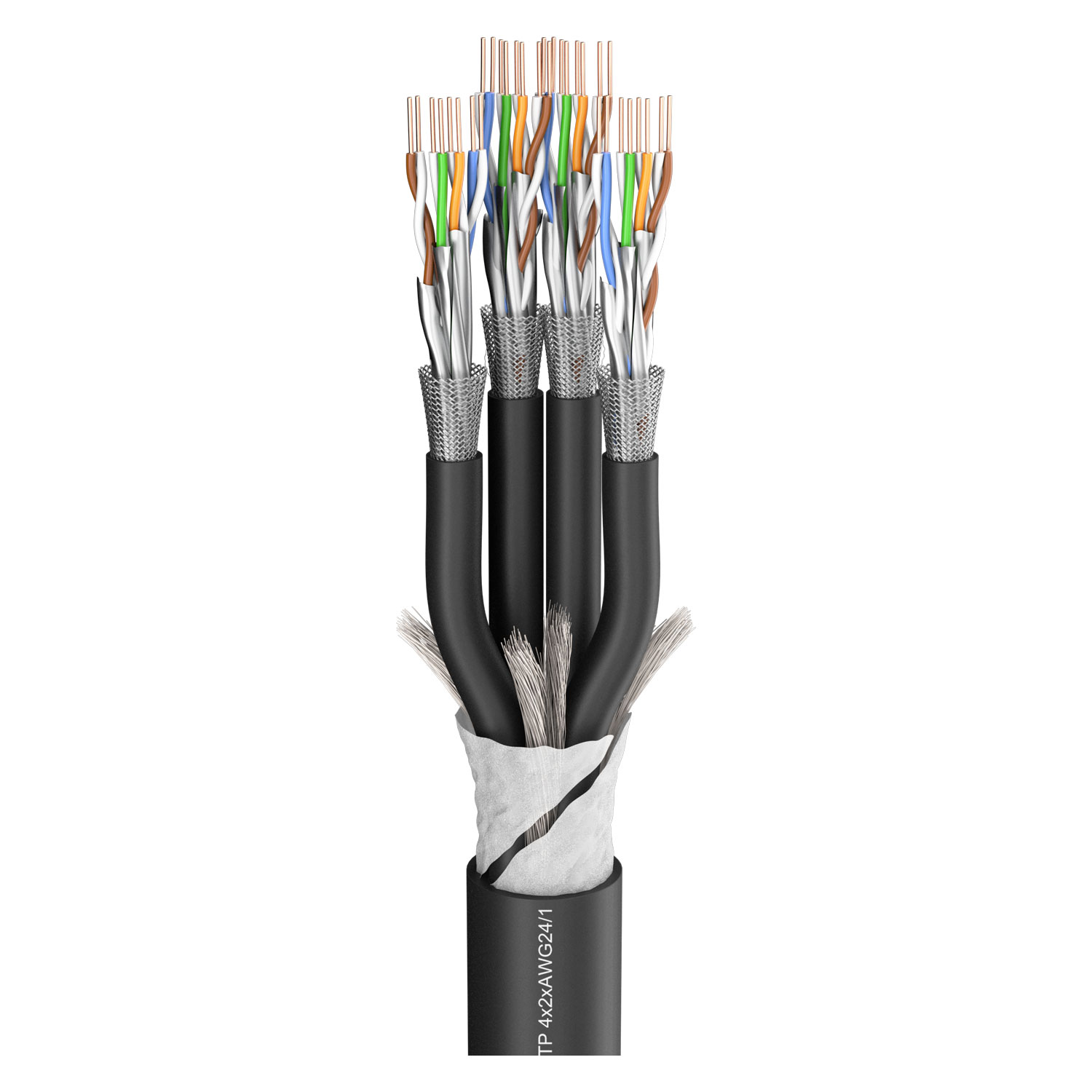sommer cable shop sc mercator 4 x cat 7 pvc 22 50 mm schwarz online kaufen. Black Bedroom Furniture Sets. Home Design Ideas